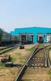 莫斯科,俄罗斯-可以13日2013年:莫斯科铁路集中处 s地方  图库摄影