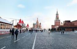 莫斯科,俄罗斯- 2016年圣诞节的12月13日红场 库存图片