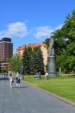 莫斯科,俄罗斯-12 06 2015年 在公园艺术Muzeon的人休息 公园位于区域23 46公顷 库存照片