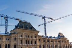 莫斯科,俄罗斯- 2018年2月01日:一个历史大厦的重建在红场的在莫斯科 库存图片