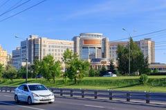 莫斯科,俄罗斯- 2018年6月02日:中心大厦罗蒙诺索夫莫斯科状态U电子教育资源的发展  库存照片