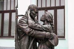 """莫斯科,俄罗斯- 2016年10月06日:以纪念Slavianka†著名俄国爱国行军""""Farewell的纪念碑  库存图片"""