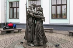 """莫斯科,俄罗斯- 2016年10月06日:以纪念Slavianka†著名俄国爱国行军""""Farewell的纪念碑  库存照片"""