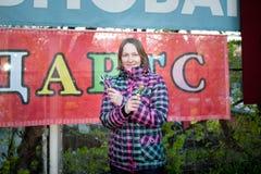 莫斯科,俄罗斯- 2017年5月13日:俄国运动员Ekaterina Ersova 图库摄影