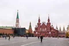 莫斯科,俄罗斯- 2016年10月06日:俄罗斯的状态历史博物馆红场的在莫斯科 免版税库存照片