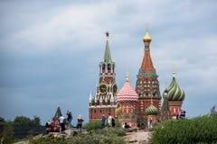 莫斯科,俄罗斯- 2017年9月15日:克里姆林宫的全景 库存图片