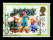 莫斯科,俄罗斯- 2017年10月3日:在伟大的Brita打印的邮票 免版税库存图片