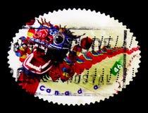 莫斯科,俄罗斯- 2017年11月24日:在加拿大打印的邮票嘘 库存图片