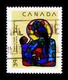 莫斯科,俄罗斯- 2017年11月24日:在加拿大打印的邮票嘘 库存照片