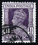 莫斯科,俄罗斯- 2017年4月2日:在印度打印的岗位邮票嘘 库存图片
