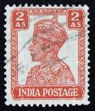 莫斯科,俄罗斯- 2017年4月2日:在印度打印的岗位邮票嘘 库存照片