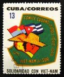 莫斯科,俄罗斯- 2017年7月15日:在古巴展示打印的罕见的邮票 库存图片