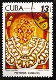莫斯科,俄罗斯- 2017年7月15日:在古巴打印的邮票显示a 免版税库存照片