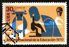 莫斯科,俄罗斯- 2017年7月15日:在古巴打印的邮票显示co 免版税库存照片