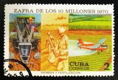 莫斯科,俄罗斯- 2017年7月15日:在古巴打印的邮票显示wo 免版税库存照片