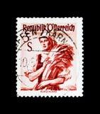 莫斯科,俄罗斯- 2017年11月24日:在奥地利打印的邮票s 库存照片