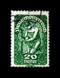 莫斯科,俄罗斯- 2017年11月24日:在奥地利打印的邮票s 免版税库存图片