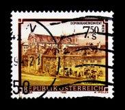 莫斯科,俄罗斯- 2017年11月24日:在奥地利打印的邮票s 免版税库存照片