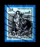 莫斯科,俄罗斯- 2017年11月24日:在奥地利打印的邮票s 图库摄影