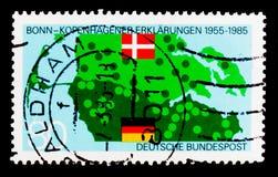 莫斯科,俄罗斯- 2017年10月3日:在德国打印的邮票联邦机关 图库摄影