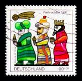 莫斯科,俄罗斯- 2017年10月3日:在德国打印的邮票联邦机关 免版税库存照片