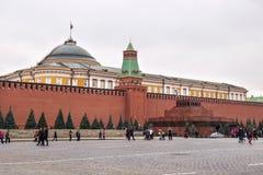 莫斯科,俄罗斯- 2016年10月06日:在红场的列宁` s陵墓列宁` s坟茔 图库摄影