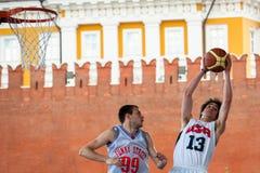 莫斯科,俄罗斯- 2013年5月30日:在红场的篮球比赛 免版税库存图片