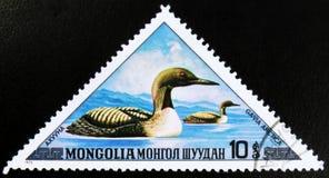 莫斯科,俄罗斯- 2017年7月15日:在蒙古展示打印的邮票 库存图片