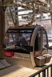 莫斯科,俄罗斯- 2019年2月16日:在麻雀小山的莫斯科电车 免版税图库摄影