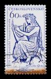 莫斯科,俄罗斯- 2017年6月20日:在Czechoslovaki打印的邮票 库存图片