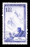 莫斯科,俄罗斯- 2017年6月20日:在Czechoslovaki打印的邮票 免版税库存照片