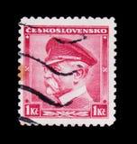 莫斯科,俄罗斯- 2017年6月20日:在Czechoslovaki打印的邮票 免版税图库摄影
