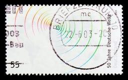 莫斯科,俄罗斯- 2017年10月21日:用德语打印的邮票联邦机关 图库摄影