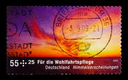 莫斯科,俄罗斯- 2017年10月21日:用德语打印的邮票联邦机关 库存照片