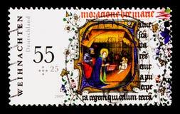 莫斯科,俄罗斯- 2017年10月21日:用德语打印的邮票联邦机关 免版税图库摄影