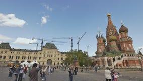 莫斯科,俄罗斯- 2017年5月19日:红场在莫斯科,俄罗斯联邦 国家地标 旅游目的地 免版税库存图片