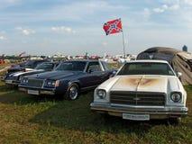 莫斯科,俄罗斯- 2008年7月15日:经典之作和肌肉汽车陈列` Autoexotic 2008年` 库存图片