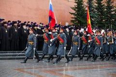 莫斯科,俄罗斯- 2017年5月08日:莫斯科和所有鲁斯` KIRILL的族长和俄罗斯正教会的更高的僧侣放置了 免版税库存照片