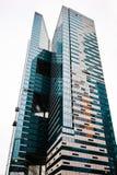 莫斯科,俄罗斯- 2016年11月5日:莫斯科国际商业中心 外部的摩天大楼,现代大厦设计 免版税库存照片