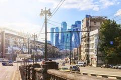 莫斯科,俄罗斯- 2017年8月16日:莫斯科市视图在一个夏日 库存图片