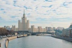莫斯科,俄罗斯- 2017年11月3日:莫斯科, Kot全景  库存照片