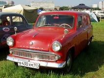 莫斯科,俄罗斯- 2008年7月15日:` Moskvich ` - 403,苏联汽车陈列` Autoexotic 2008年` 免版税库存照片