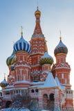 莫斯科,俄罗斯- 2018年2月01日:St蓬蒿红场的` s大教堂在莫斯科 免版税库存图片