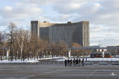 莫斯科,俄罗斯-旅馆波斯菊 免版税库存图片