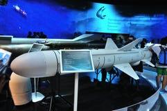 莫斯科,俄罗斯- 2015年8月:亚声对船导弹Kh35U  免版税库存照片