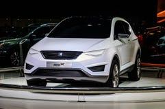 莫斯科,俄罗斯- 2012年8月:供以座位当全球首演被提出的IBX概念在第16个MIAS莫斯科国际汽车沙龙  库存照片