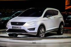 莫斯科,俄罗斯- 2012年8月:供以座位当全球首演被提出的IBX概念在第16个MIAS莫斯科国际汽车沙龙  免版税库存照片