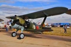 莫斯科,俄罗斯- 2015年8月:苏联双翼飞机战斗机I-15柴卡PR 免版税库存照片