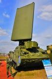 莫斯科,俄罗斯- 2015年8月:驻地反aircraf目标的侦查 免版税库存照片