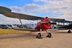 莫斯科,俄罗斯- 2015年8月:I-15 DIT被提出的训练航空器 免版税库存图片